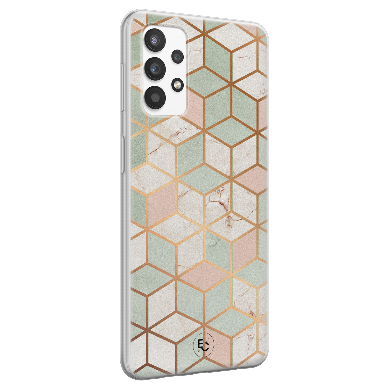 ELLECHIQ Samsung Galaxy A32 4G siliconen hoesje - Pastel Kubus