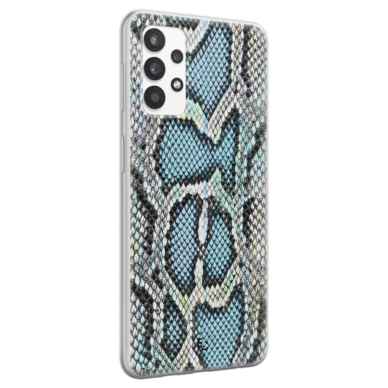 ELLECHIQ Samsung Galaxy A32 4G siliconen hoesje - Baby Snake blue