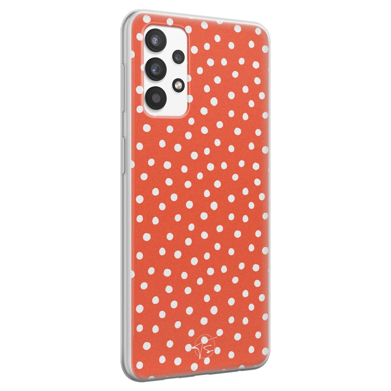 Telefoonhoesje Store Samsung Galaxy A32 4G siliconen hoesje - Orange dots