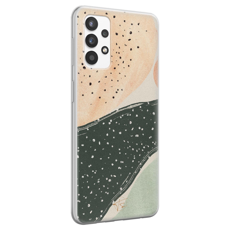 Telefoonhoesje Store Samsung Galaxy A32 4G siliconen hoesje - Abstract peach