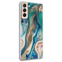 Telefoonhoesje Store Samsung Galaxy S21 siliconen hoesje - Magic marble