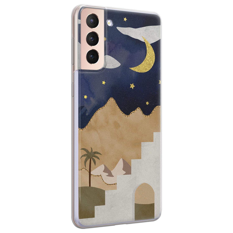 Leuke Telefoonhoesjes Samsung Galaxy S21 siliconen hoesje - Desert night