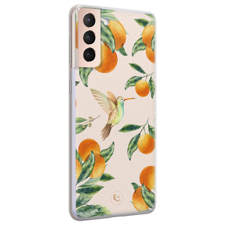 ELLECHIQ Samsung Galaxy S21 siliconen hoesje - Tropical Lemonade