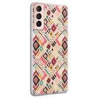 Telefoonhoesje Store Samsung Galaxy S21 Plus siliconen hoesje - Boho vibes