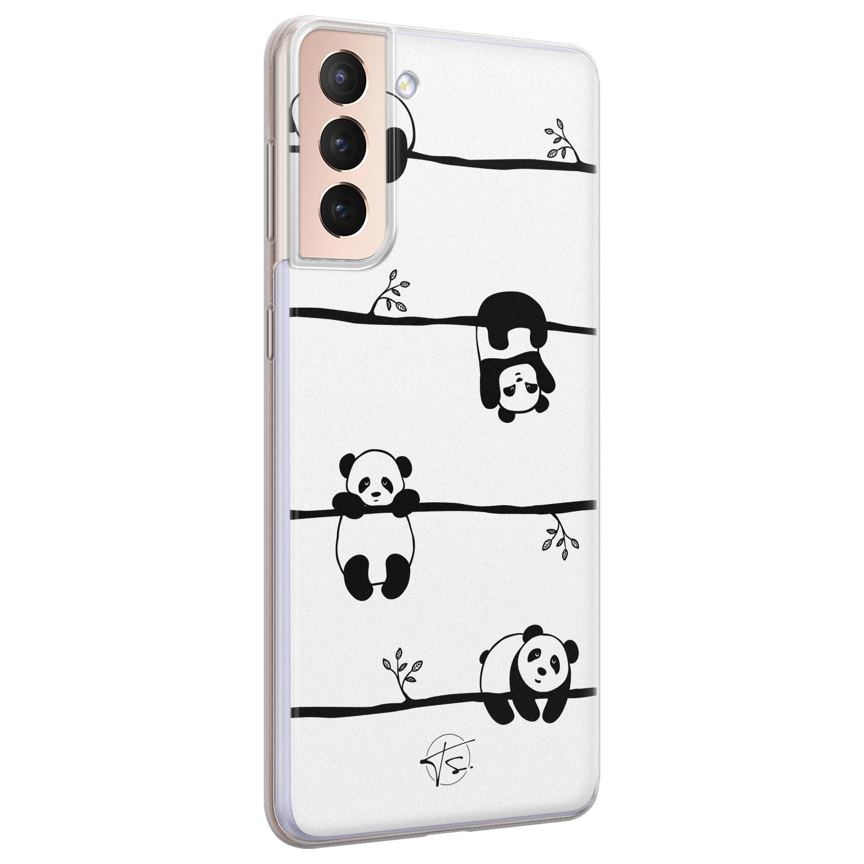 Telefoonhoesje Store Samsung Galaxy S21 Plus siliconen hoesje - Panda