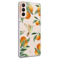 ELLECHIQ Samsung Galaxy S21 Plus siliconen hoesje - Tropical Lemonade