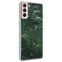 ELLECHIQ Samsung Galaxy S21 Plus siliconen hoesje - Marble jade green