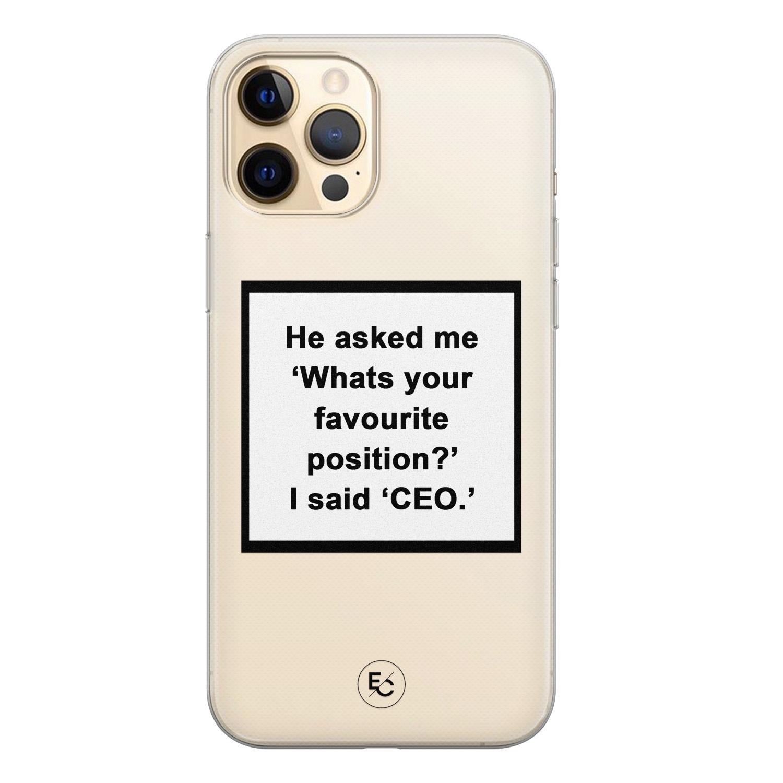 ELLECHIQ iPhone 12 siliconen hoesje - Sarcasme quote