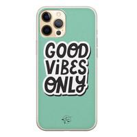 Telefoonhoesje Store iPhone 12 siliconen hoesje - Good vibes only