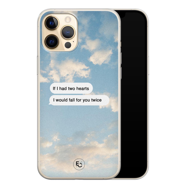 ELLECHIQ iPhone 12 siliconen hoesje - Love quote