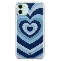 ELLECHIQ iPhone 11 siliconen hoesje - Hart blauw