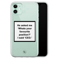 ELLECHIQ iPhone 11 siliconen hoesje - Sarcasme quote