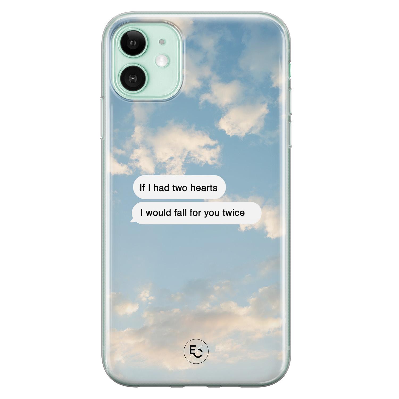 ELLECHIQ iPhone 11 siliconen hoesje - Love quote