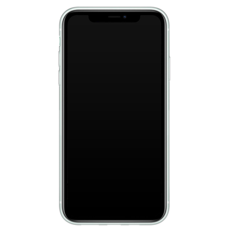 Telefoonhoesje Store iPhone 11 siliconen hoesje - Luipaard blauw