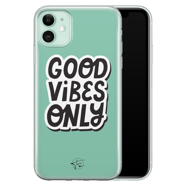 Telefoonhoesje Store iPhone 11 siliconen hoesje - Good vibes only
