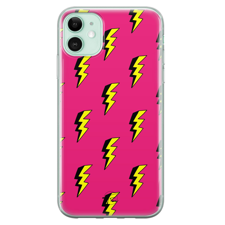 Telefoonhoesje Store iPhone 11 siliconen hoesje - Bliksem