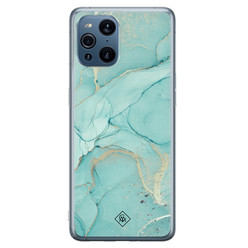 Casimoda Oppo Find X3 siliconen hoesje - Touch of mint