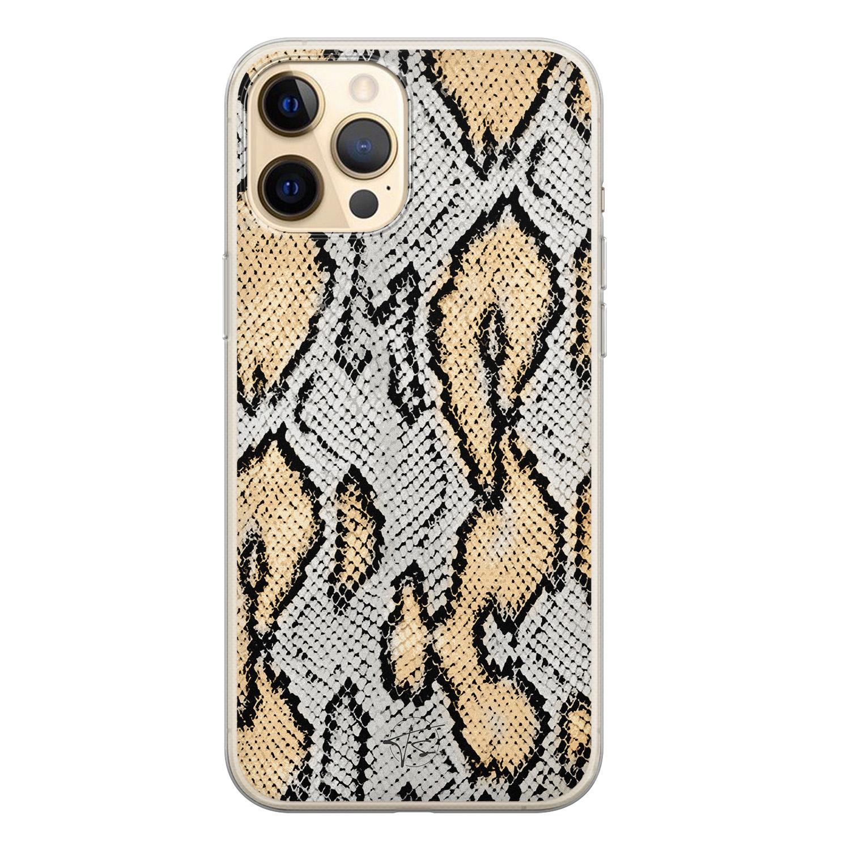 ELLECHIQ iPhone 12 Pro siliconen hoesje - Stay Golden Marble