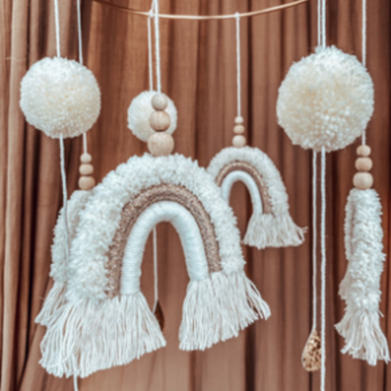 Cotton Design Cotton Design | Rainbow Mobile  Teddy