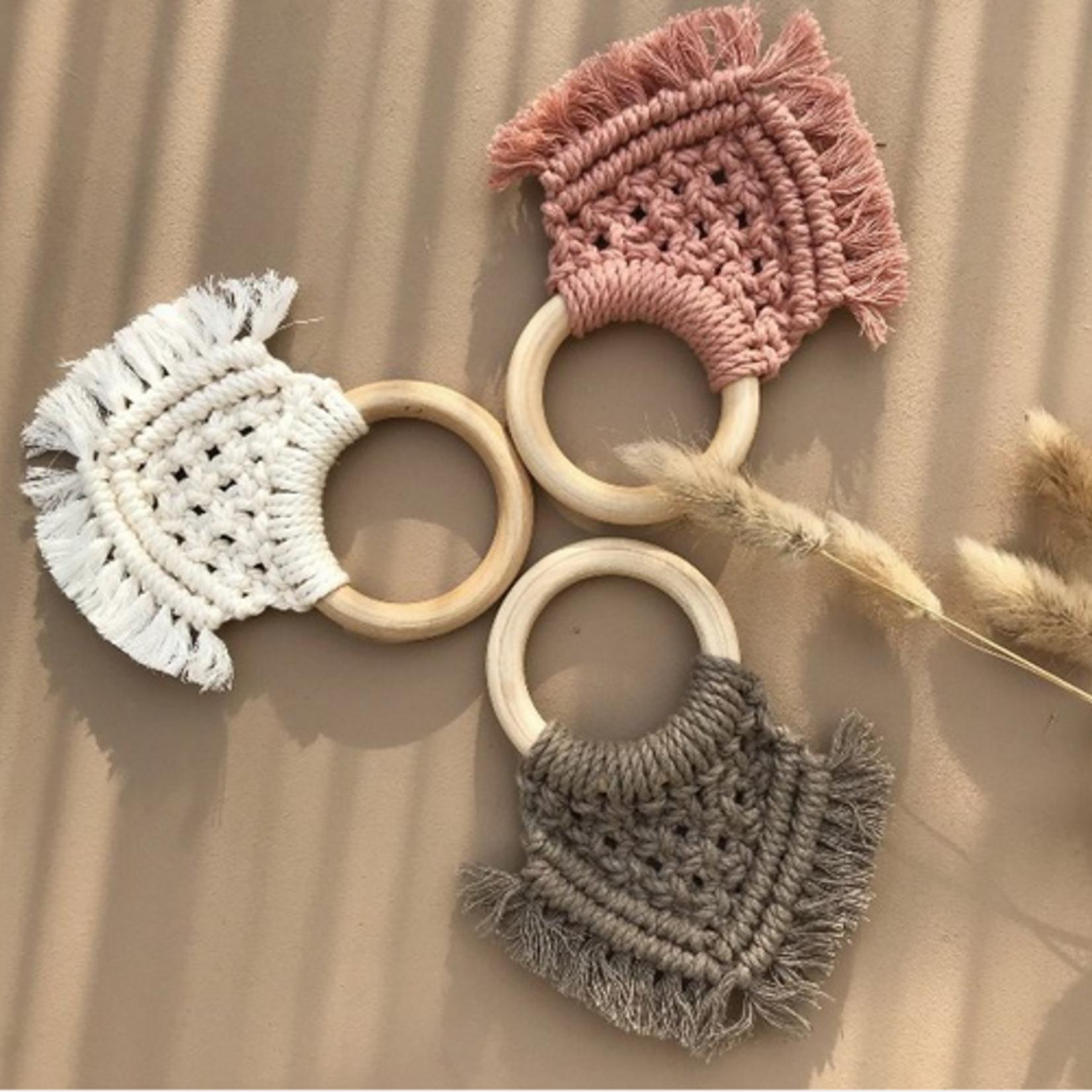 Cotton Design Cotton Design   Bijtring Macramé -  Dusty Rose