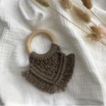 Cotton Design Bijtring  Macramé - Taupe