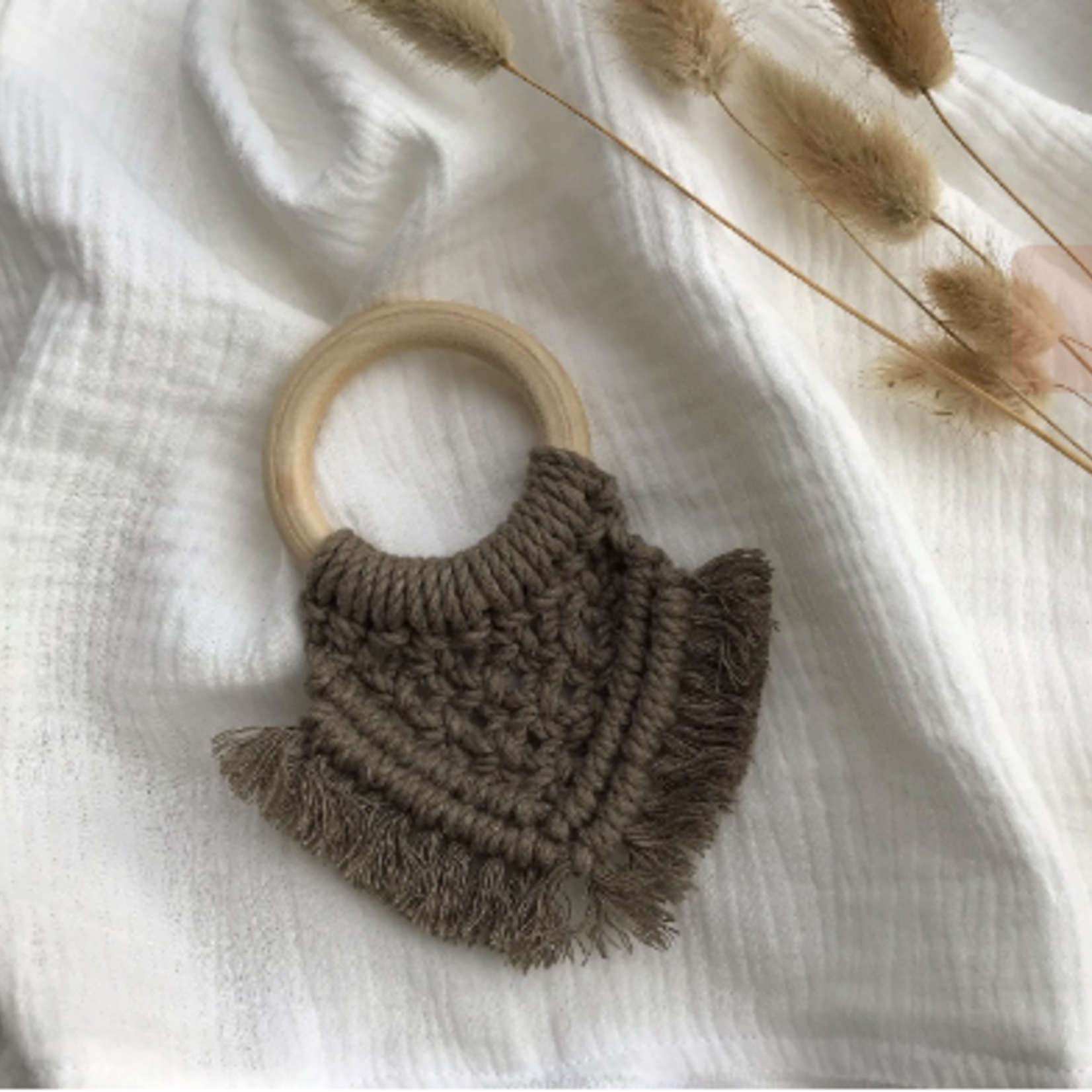 Cotton Design Cotton Design   Bijtring Macramé -  Taupe