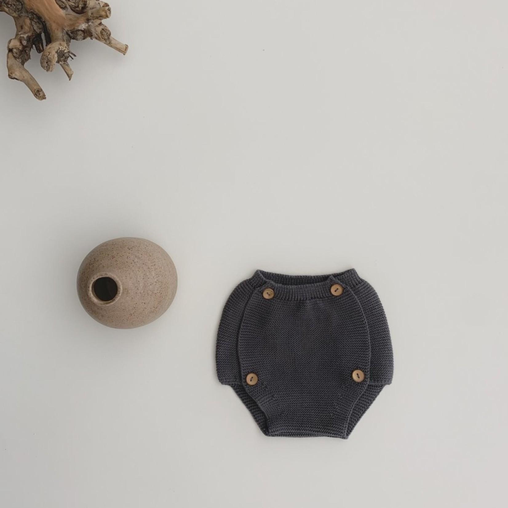 GUAPOO GUAPOO  Soft Knit Bloomers - Dark Grey