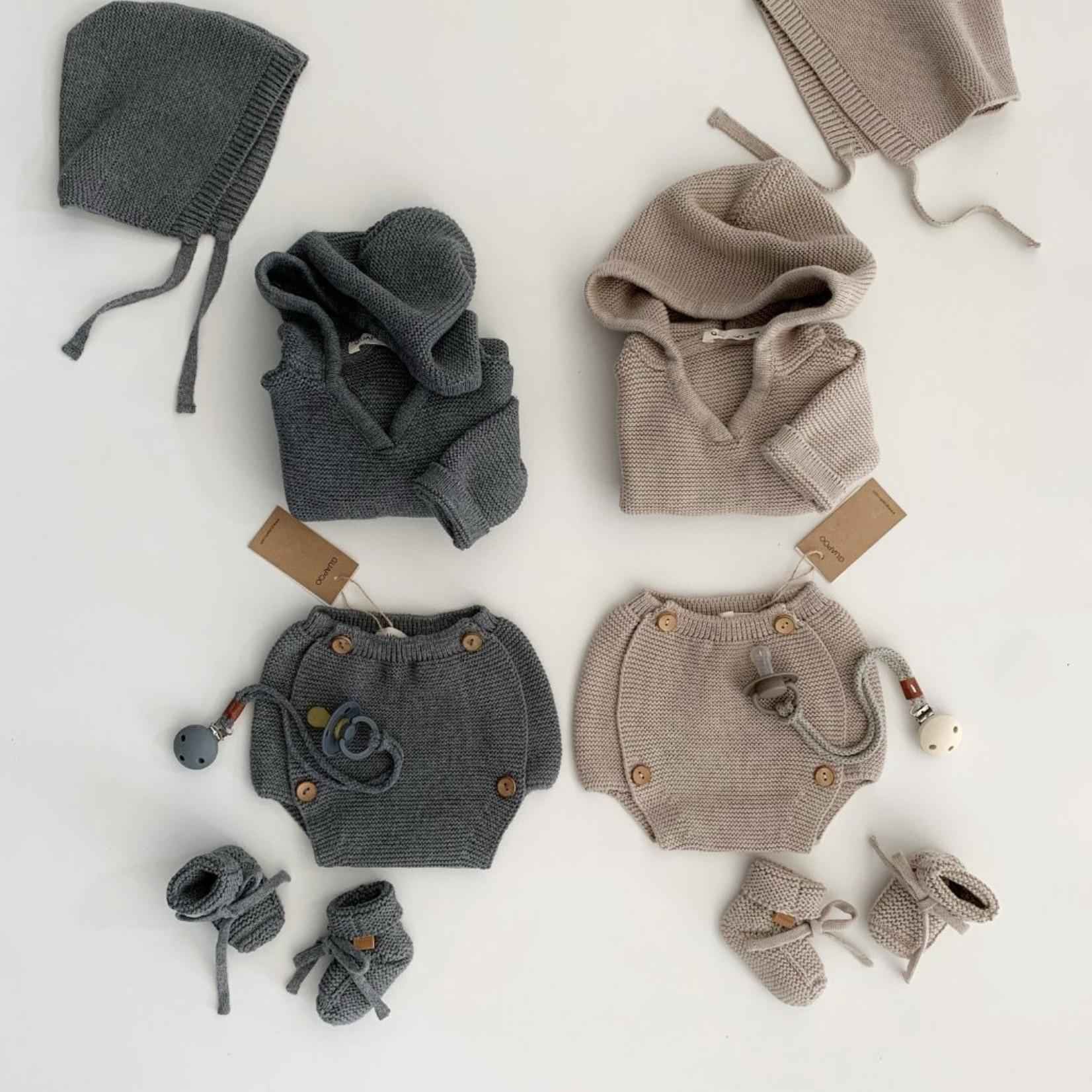 GUAPOO GUAPOO  Soft Knit Bloomers - Dark Sand