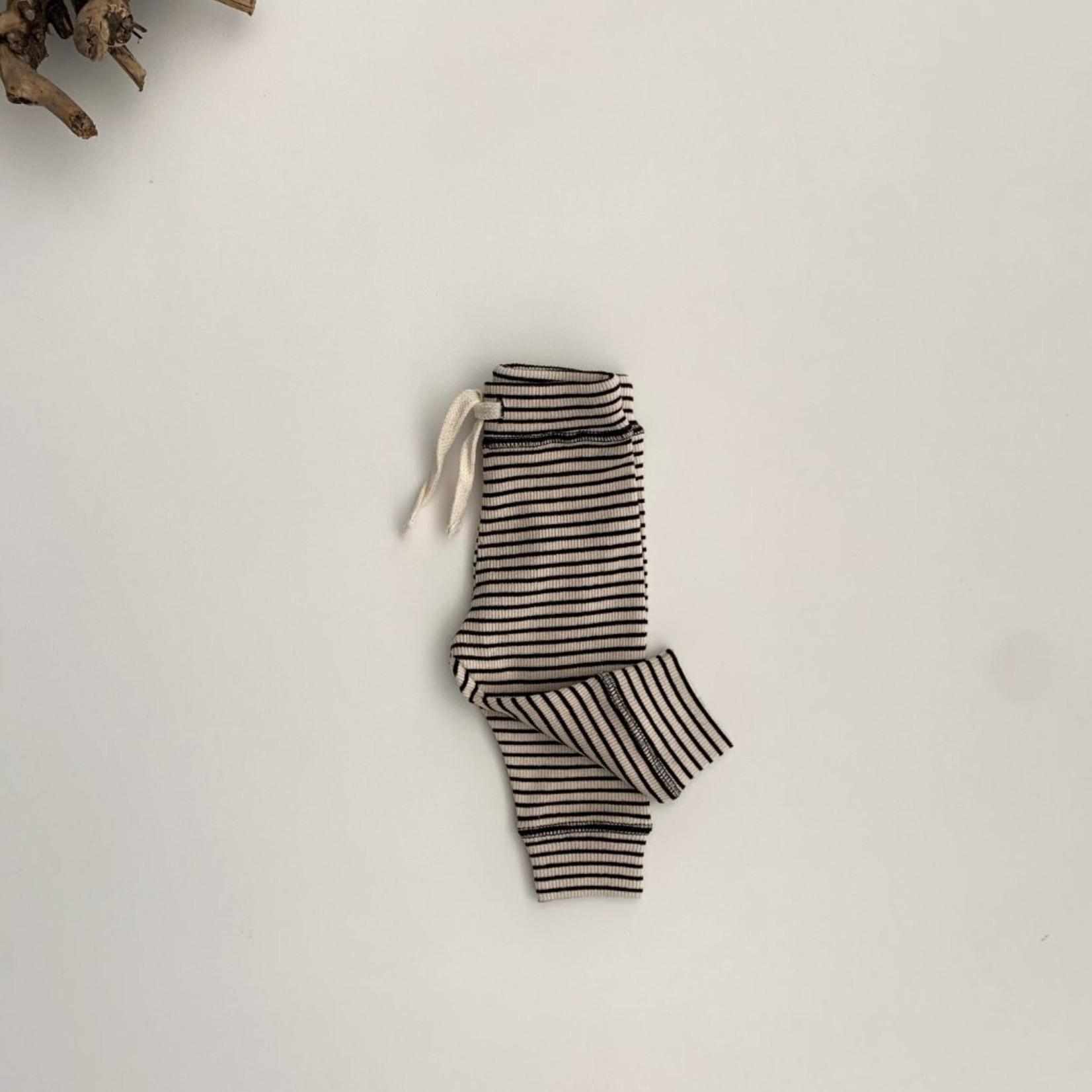 GUAPOO GUAPOO |Rib Legging - Beige Stripes