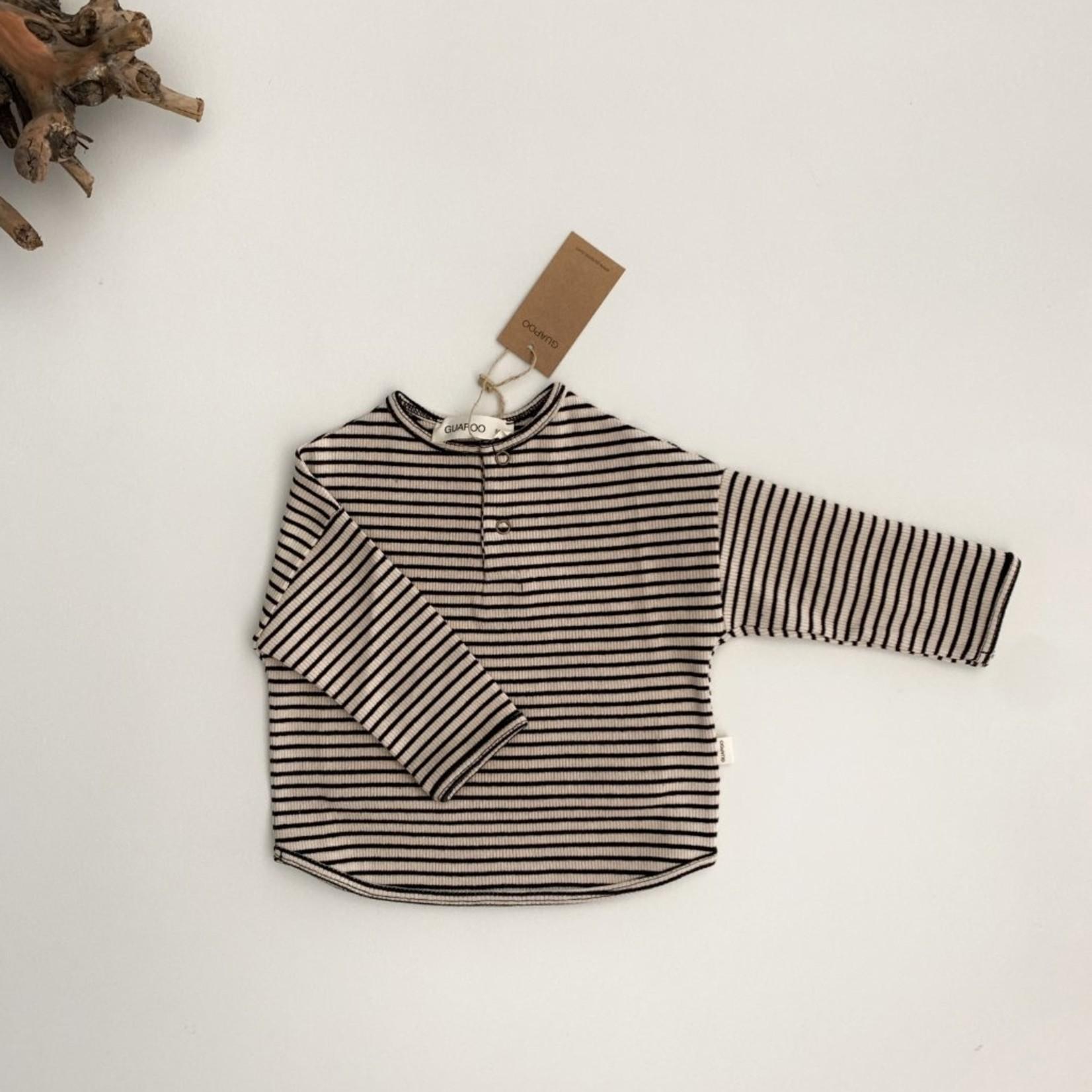 GUAPOO GUAPOO |Rib Shirt - Beige Stripes