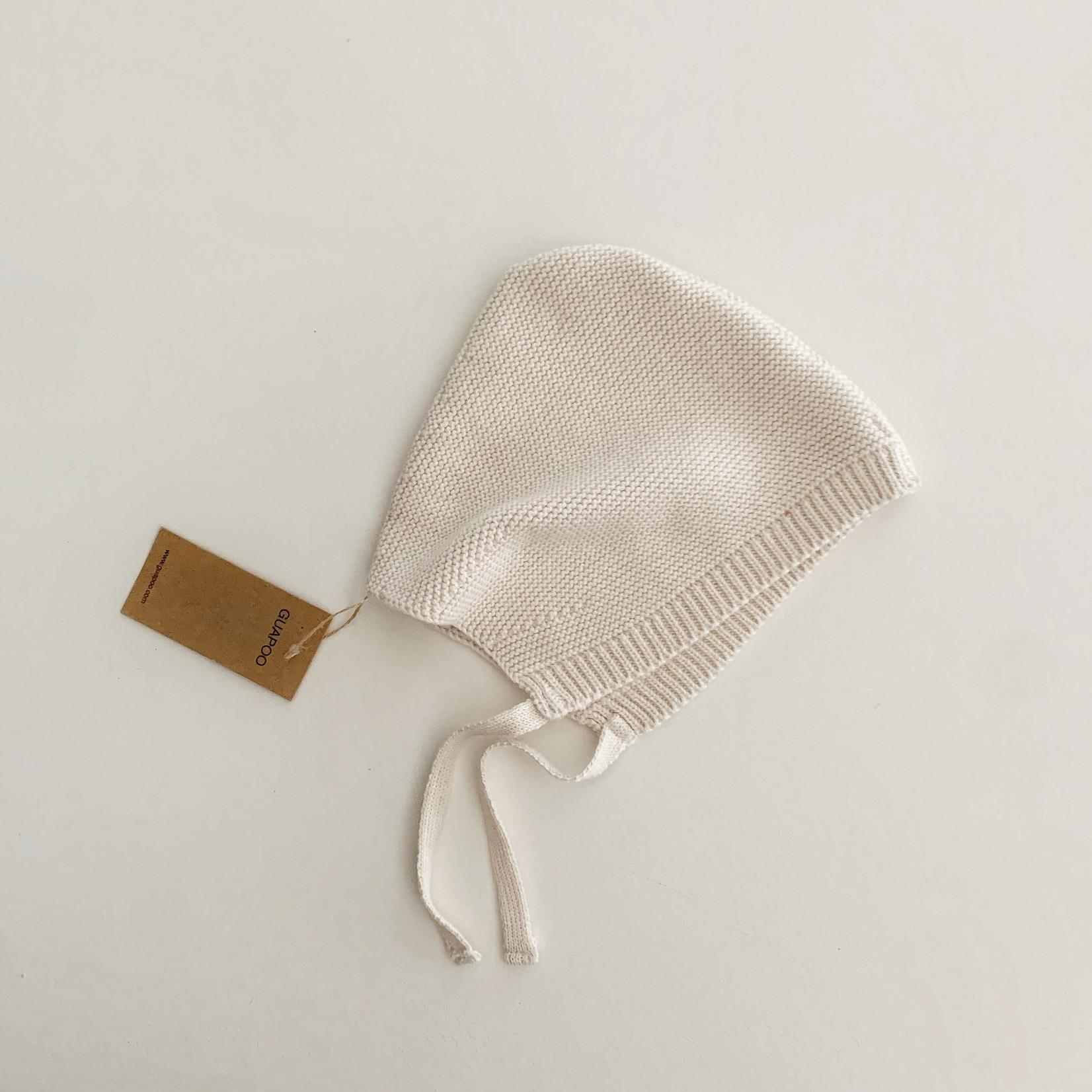 GUAPOO GUAPOO  Soft Knit Bonnet - Oat