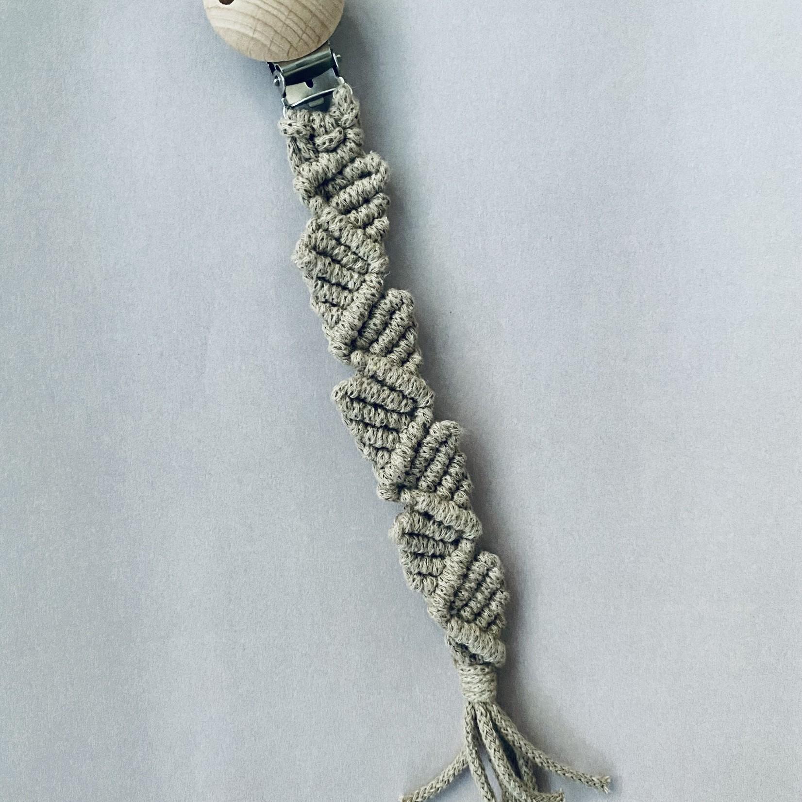 Abbi's Handmade Abbi's Handmade | Pacifier Clip Rosalie - Sand
