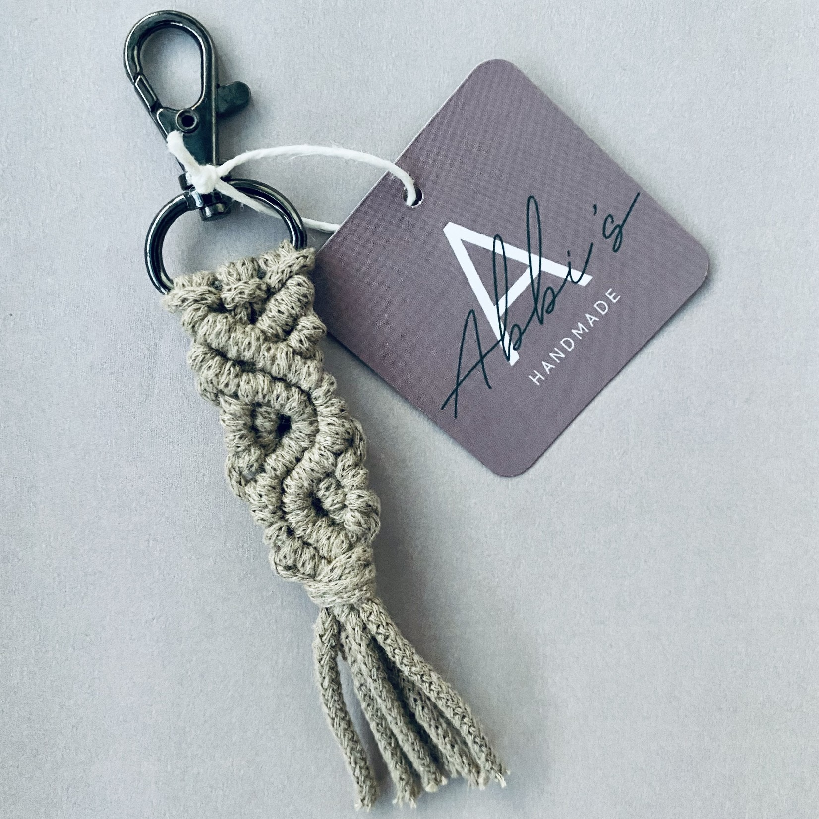 Abbi's Handmade Abbi's Handmade | Keychain Jules - Sand