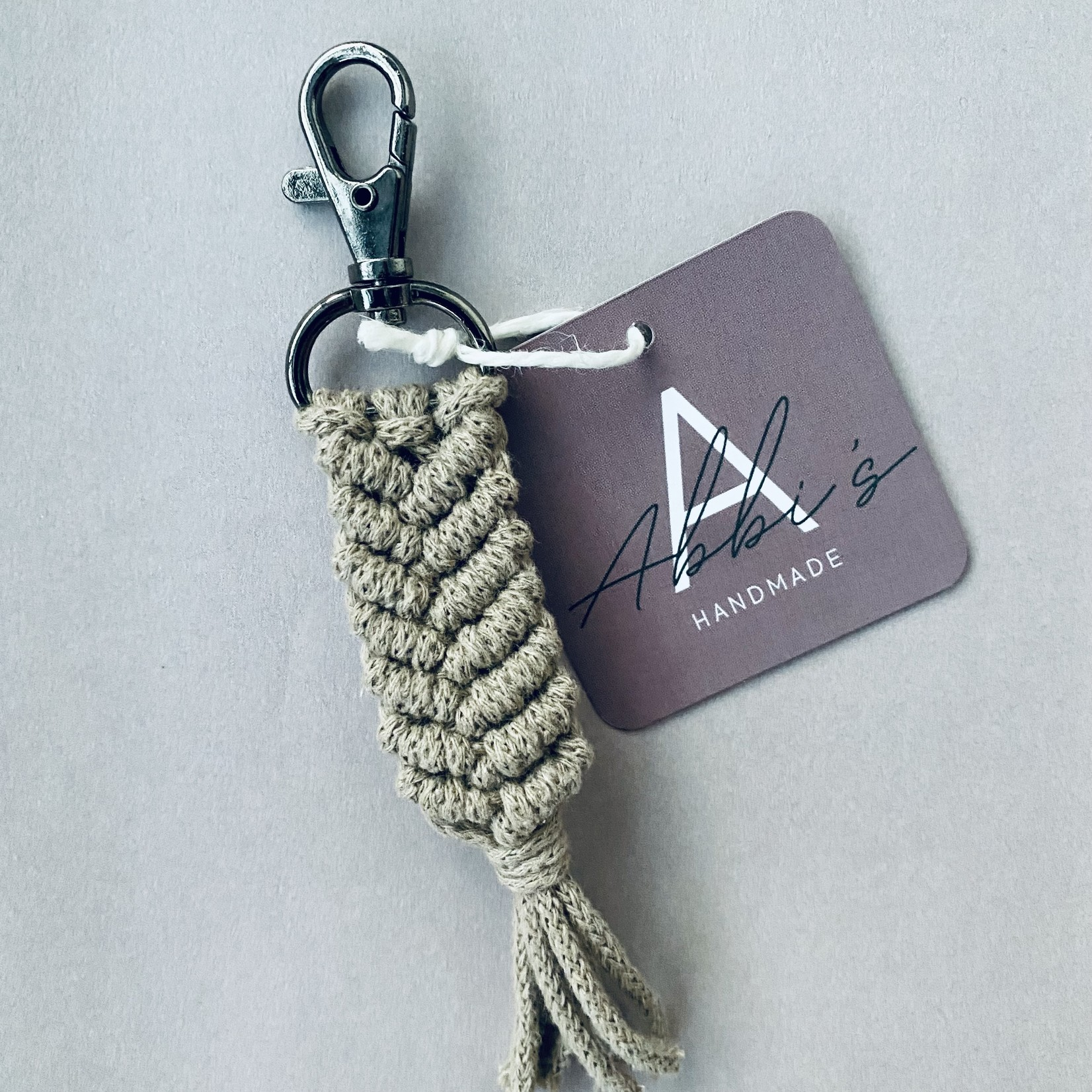 Abbi's Handmade Abbi's Handmade   Keychain Liam - Sand