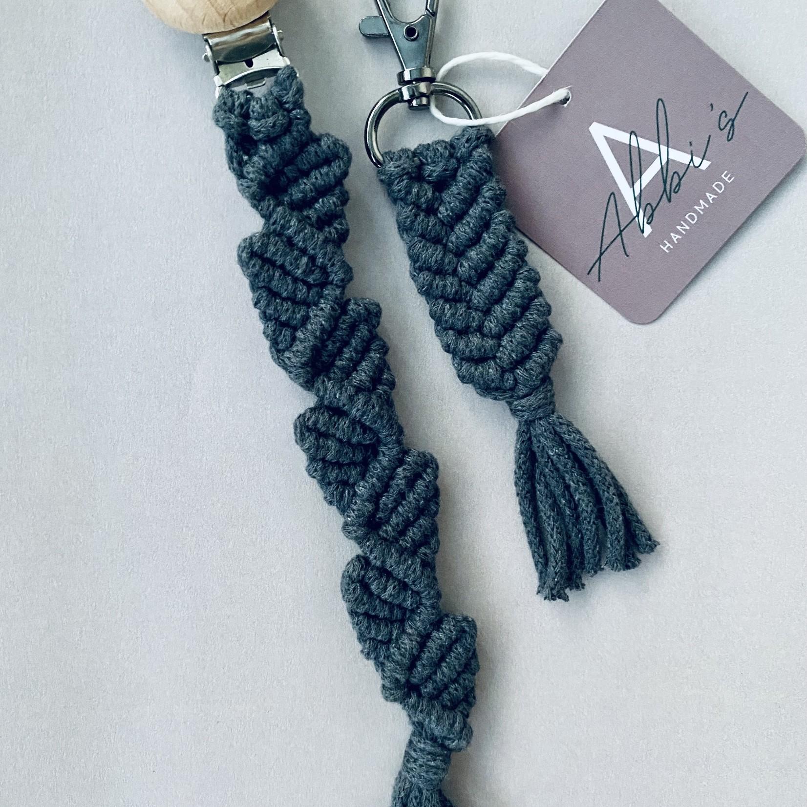Abbi's Handmade Macramé Giftset - Charcoal