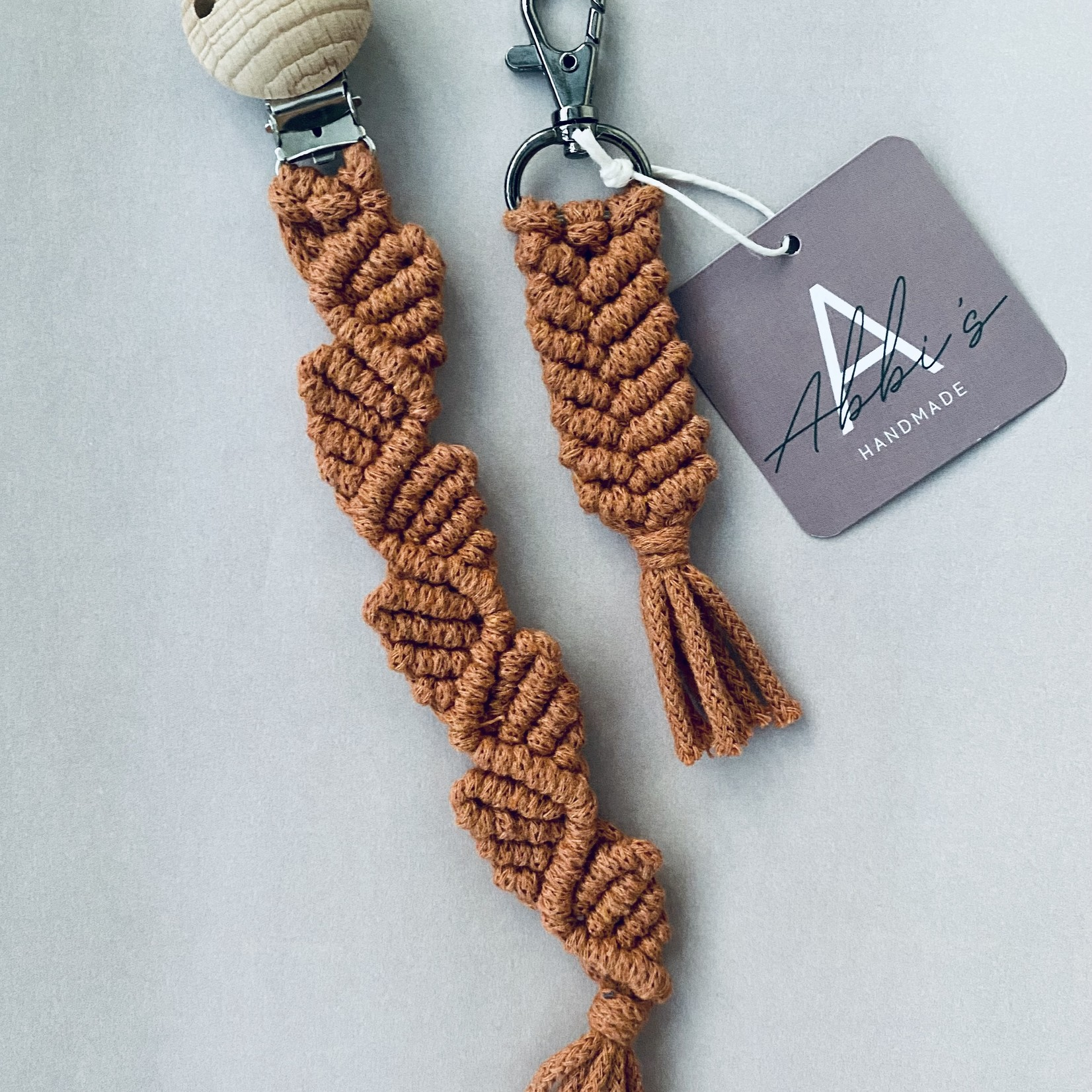 Abbi's Handmade Macramé Giftset - Terracotta
