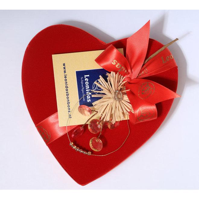 Fluwelen hart 22cm / 400 gram