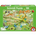Schmidt Dieren in de Jungle, 100 stukjes