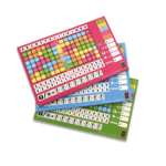 999 Games Scoreblokken Keer op Keer drie stuks Level 5, 6 en 7