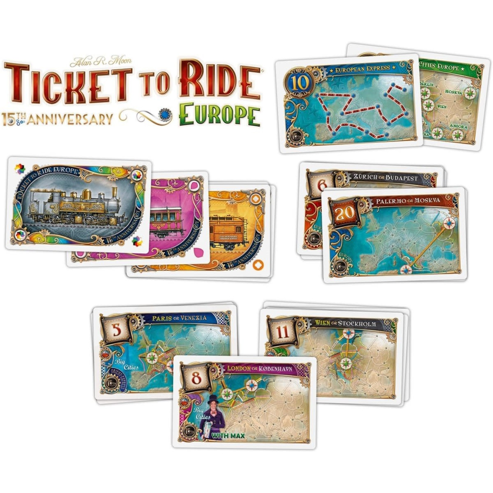 Days of Wonder Ticket To Ride Europa- Deluxe editie - 15th Anniversary