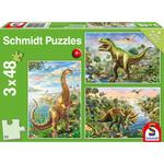 Schmidt Avontuur met Dinosauriers, 3 x 48 stukjes