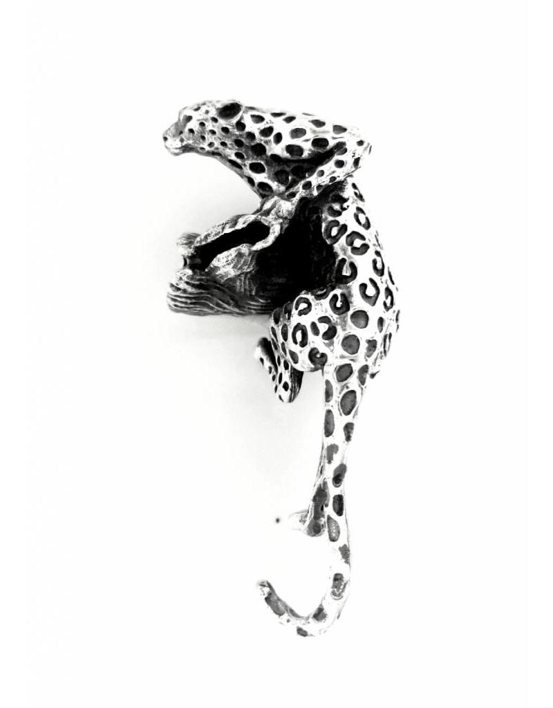 Faerybeads Crouching Leopard Pendant