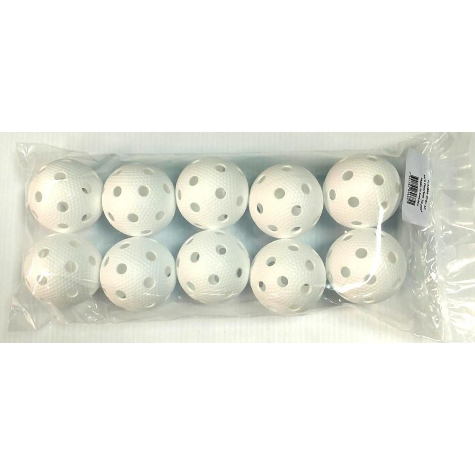 Salming Campus Ball  10 witte ballen in polybag