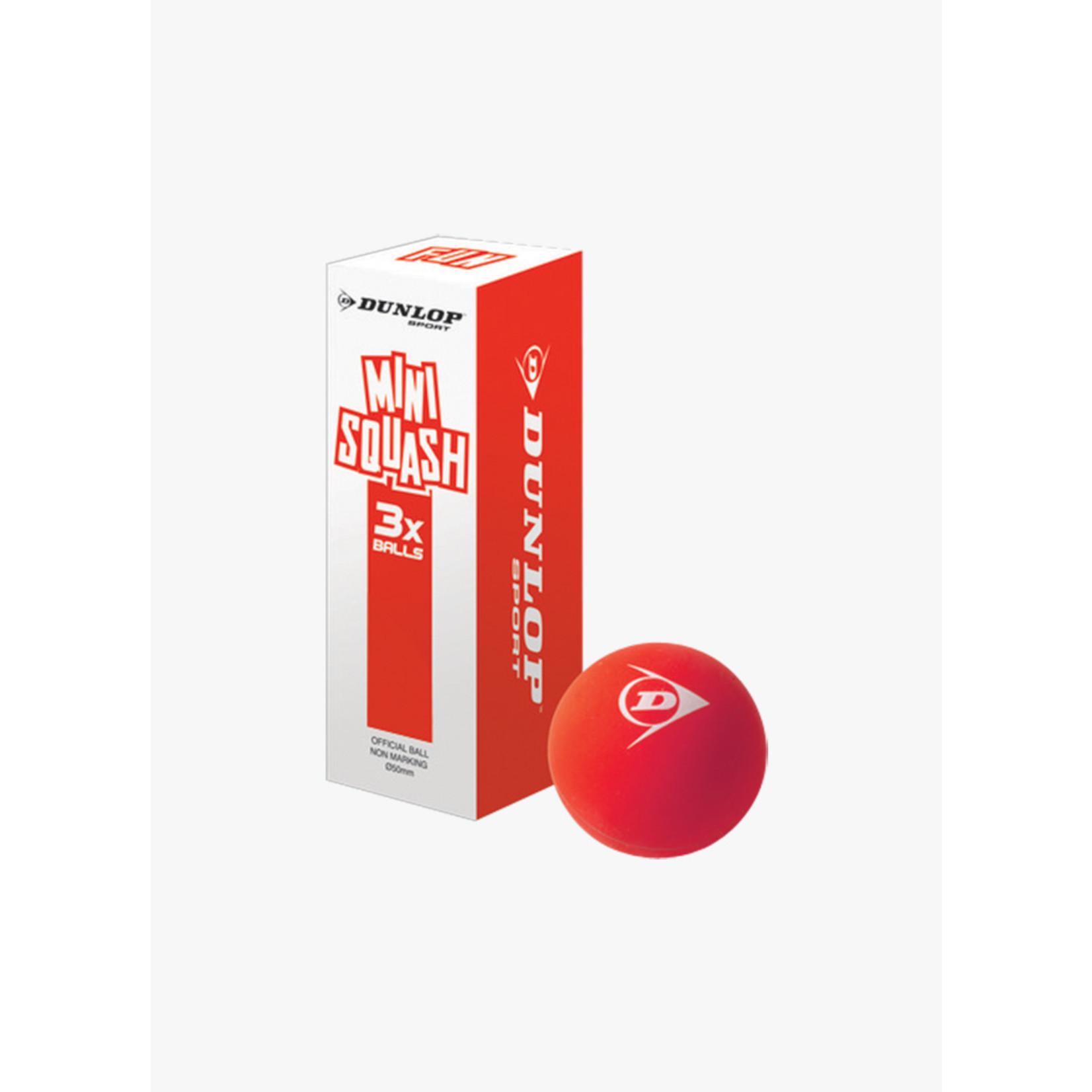 Dunlop Fun Mini Squashbal Orange 3pk