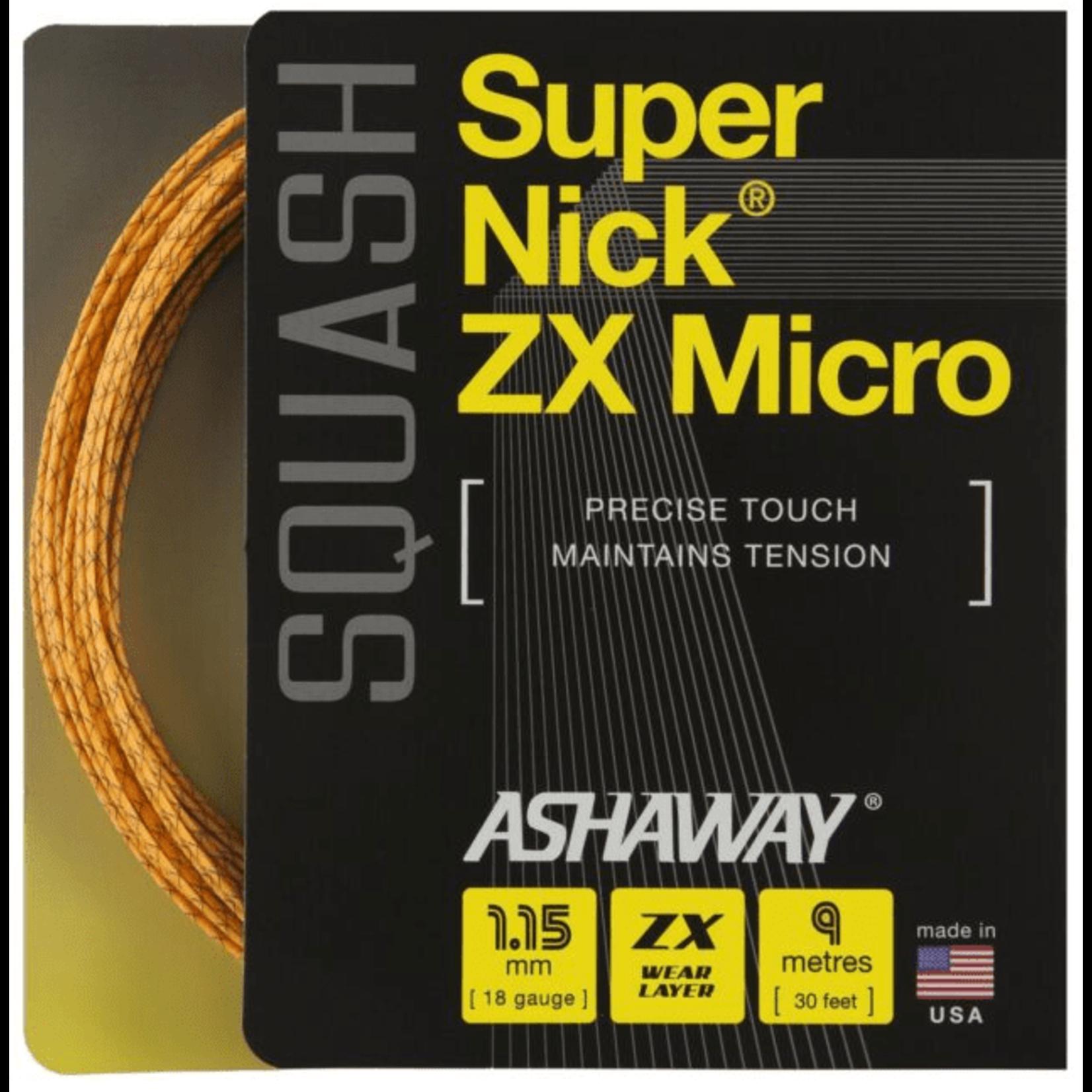 Ashaway SuperNick ZX Micro squash 1,15MM orange SPIRAL