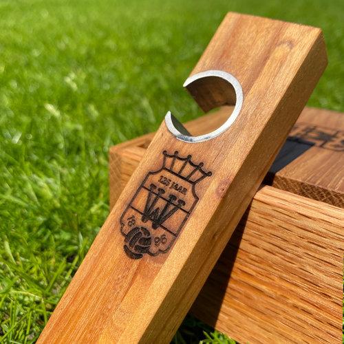 Willem II houten flesopener