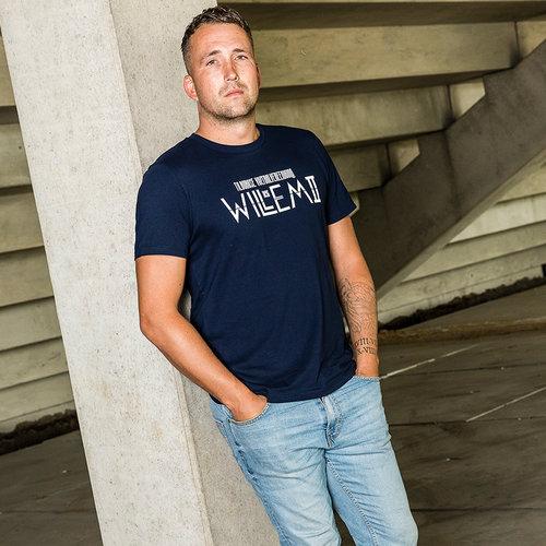 Willem II T-shirt Vlag - Navy