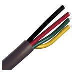 GT KABEL COAX MULTI 4 COLOURED 100M PATC ZWART - BUITEN FULL KOPER - 120 dB