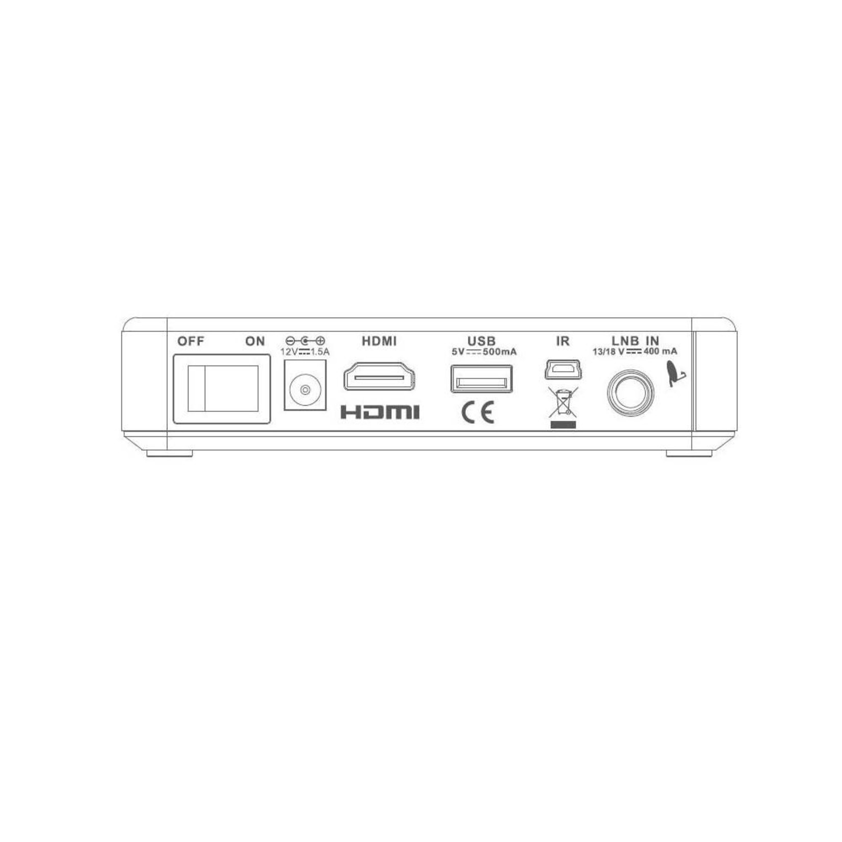 DENSON ONTVANGER DENSON DS1010 MINI V2,HD,CI+,H265, 12VDC/230VAC