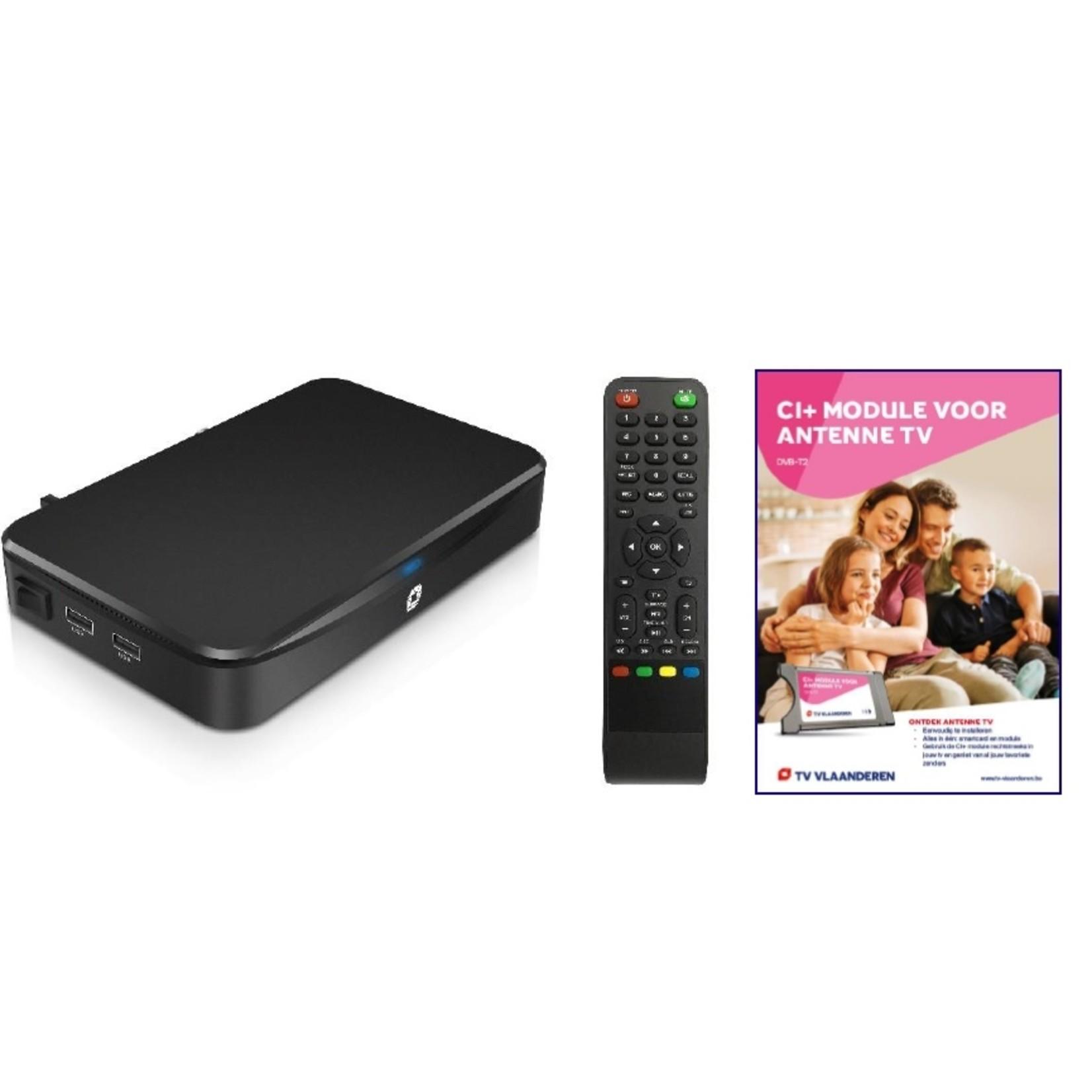 TV VLAANDEREN DVB-T ONTVANGER DVB-T2 : MET CI+ MODULE EN SMARTCARD